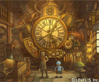 Professor Layton and the Unwound Future Concept Art