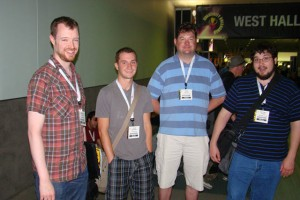 Noah, Evan, Mark and Tidman at E3 2010, Taken by Eric