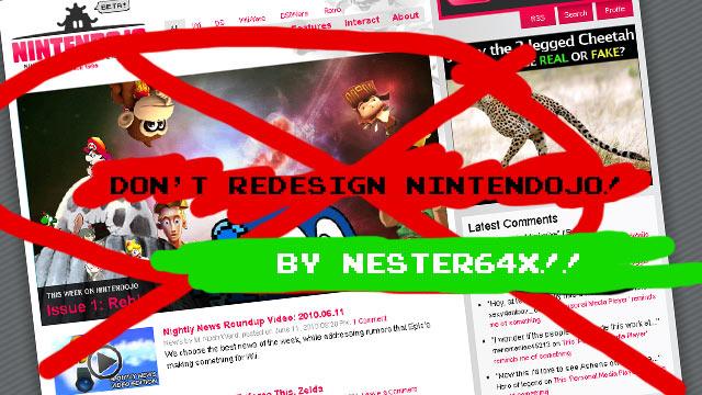 Nester64x: Don't Redesign Nintendojo!