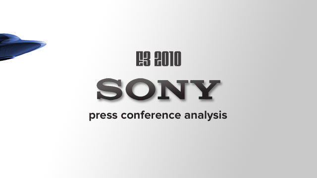 E3 2010: Sony Press Conference Analysis