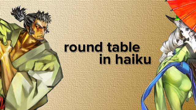 Round Table in Haiku
