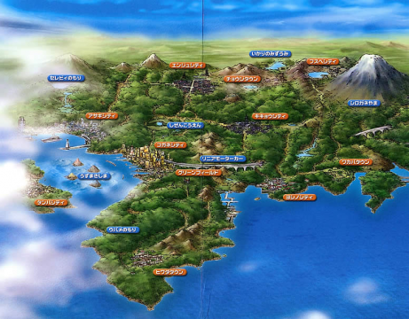 Pokémon Anime Johto Map