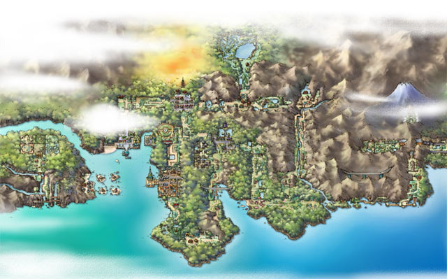 Pokémon HeartGold and SoulSilver Artwork - Map