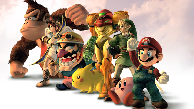 Super Smash Bros Brawl character groupshot