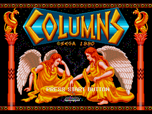 Columns Title Screen