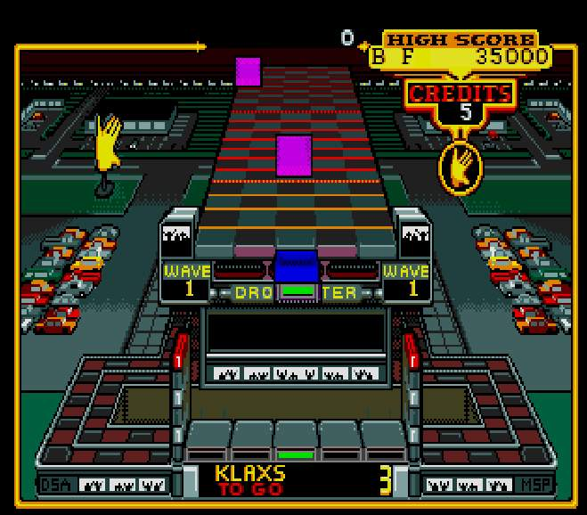 Klax Screenshot - Megadrive Version