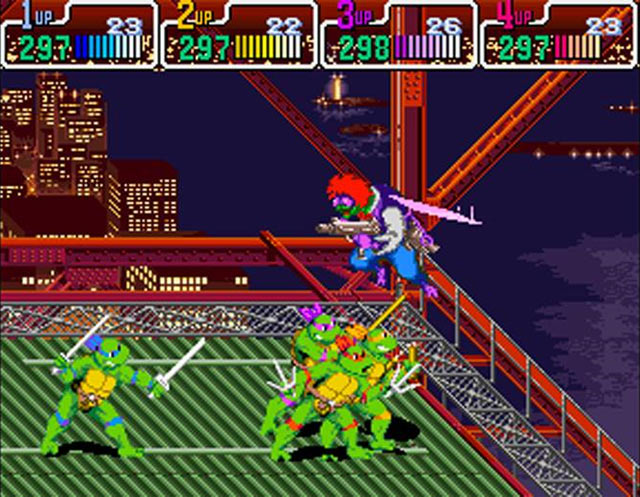 Teenage Mutant Ninja Turtles IV: Turtles in Time Screenshot