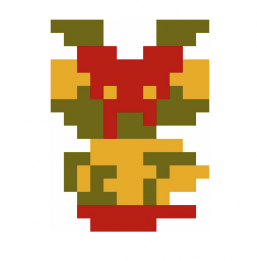 Super Mario Bros. sprite artwork upside down Mario