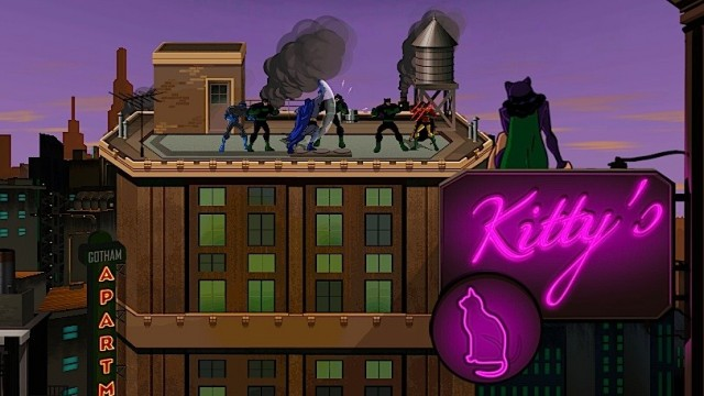 Batman: The Brave and The Bold Rooftop Fighting