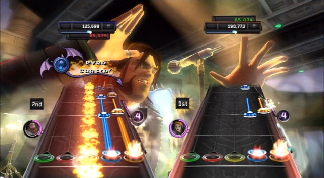 Guitar Hero Warriors of Rock - Pyro Cursed. This expansion of Roadies starts