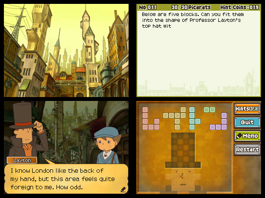 Professor Layton and the Unwound Future - Screenshots