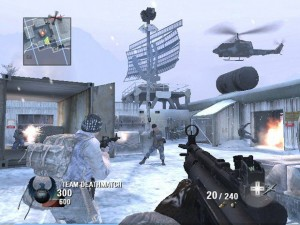 Call of Duty Black Ops Snow Match
