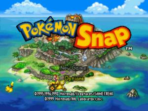 Pokémon Snap Title Screen