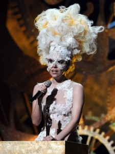 Lady Gaga at the Brit Awards 2010
