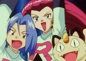 Team Rocket cheering from the Pokémon Pokemon anime