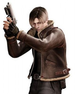 Resident Evil 4 Leon Kennedy character artwork