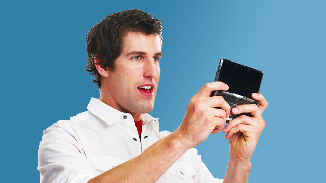 3DS Being Played by Man