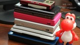 Size comparison with all of Nintendo's handhelds since Gameboy Micro