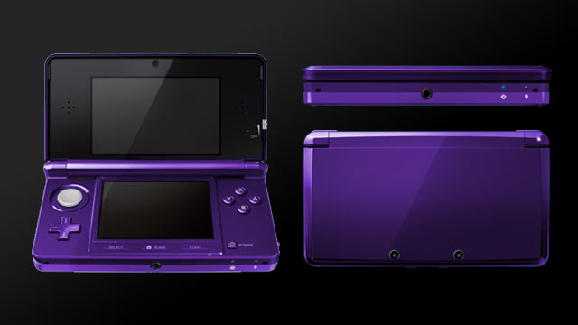 3DS Alternate Color Mockup: Purple