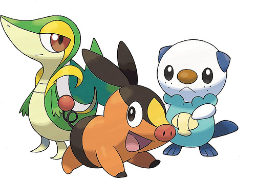 pokemon black and white starters fully. I always liked Water Pokémon,