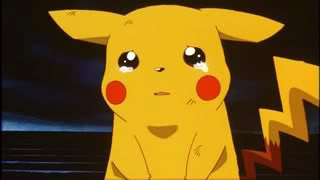Pokemon Cartoon Sad Pikachu