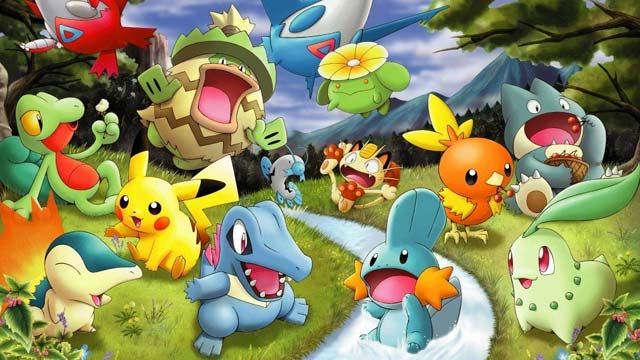 Pokemon in a Forest