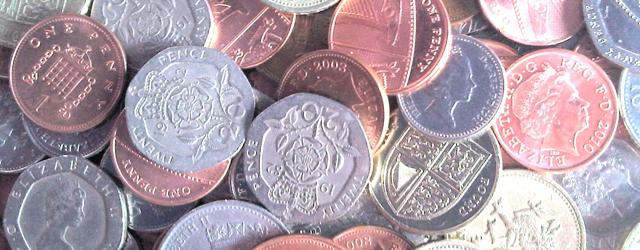 Masthead, pile of British coins