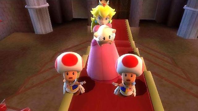 Super Mario Galaxy - Toad & Peach Screenshot