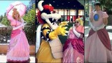 Peach, Bowser and Peach and Peach cosplay photography montage