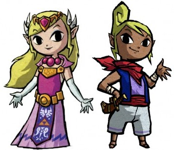 Tetra and Zelda Wind Waker artwork
