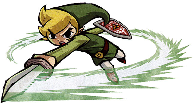 Wind Waker Link, spin attack artwork