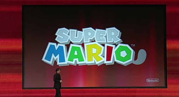 Super Mario 3DS logo conference reveal