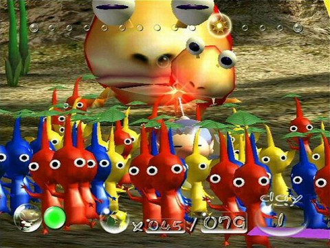 Pikmin 1 gameplay screen