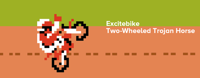 Excitebike: Two Wheeled Trojan Horse Masthead