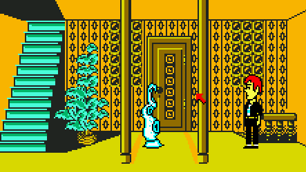 Maniac Mansion screen, tentacle