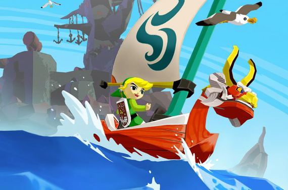 Link sailing in the King of Red Lions boat, The Legend of Zelda: Wind Waker