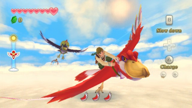 Aerial Bird Race in The Legend of Zelda: Skyward Sword