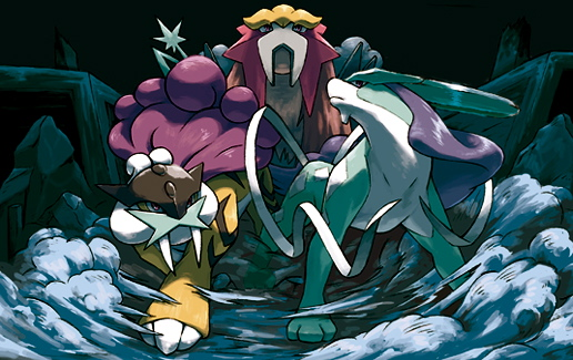 Legendary Beasts, Entei, Raikou and Suicune, Pokémon HeartGold Gold and SoulSilver Silver