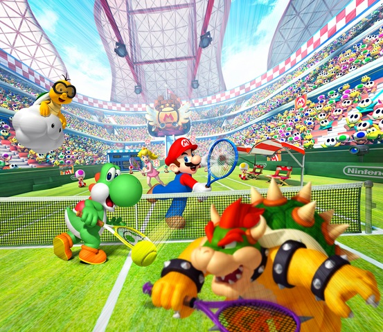 Mario Tennis Open Box Art Full Image