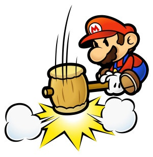 Paper Mario Mario With Hammer