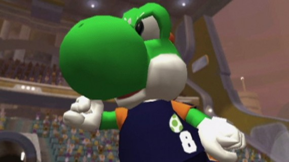 Super Mario Strikers screenshot, Yoshi