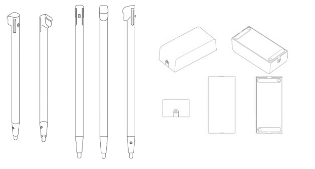 Wii U Patent Stylus and Power Brick