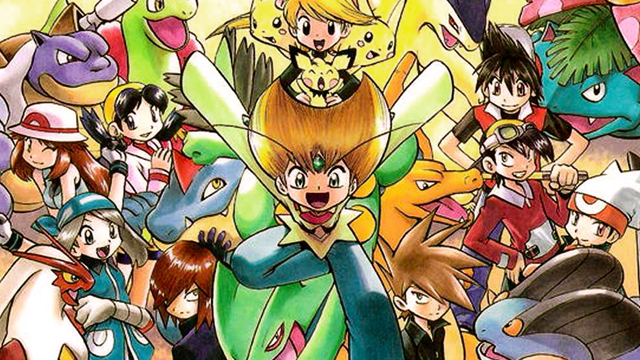 Pokémon Adventures character group artwork masthead
