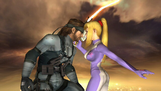 Snake and Samus screenshot, Super Smash Bros Brawl