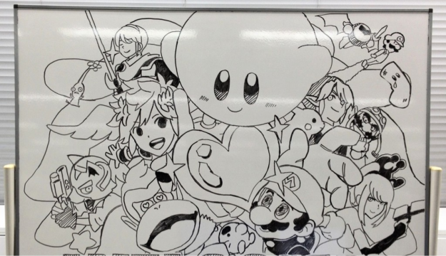 Super Smash Bros. 4 whiteboard tease