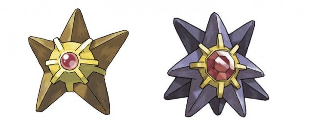 Staryu and Starmie artwork