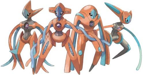 Deoxys forms artwork