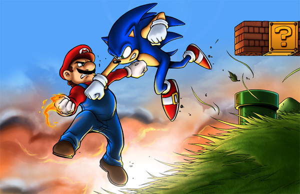 art_sonic vs mario