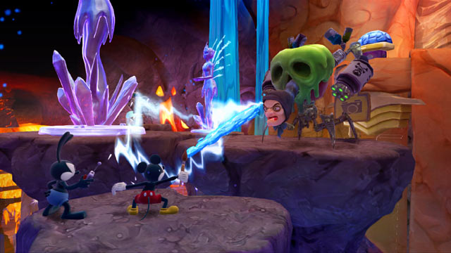 Epic Mickey: Power of Two Screenshot - Witch Battle