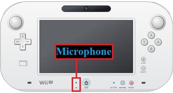 Wii U GamePad microphone